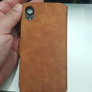 """unbranded Accessories - Wallet case for iphone XR 6.1"""" color brown new"""